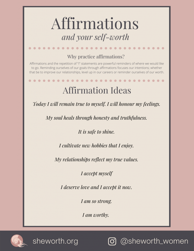 Affirmations and your self-worth pdf